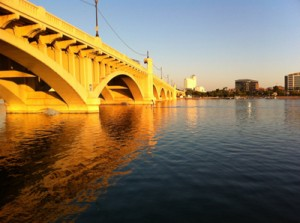 SUP sunset Tempe Town Lake